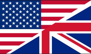 Sprache Englisch Flagge