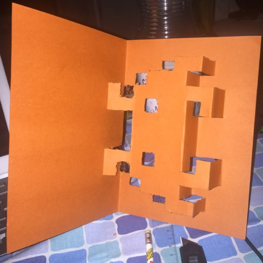 Space Invaders Popup Card